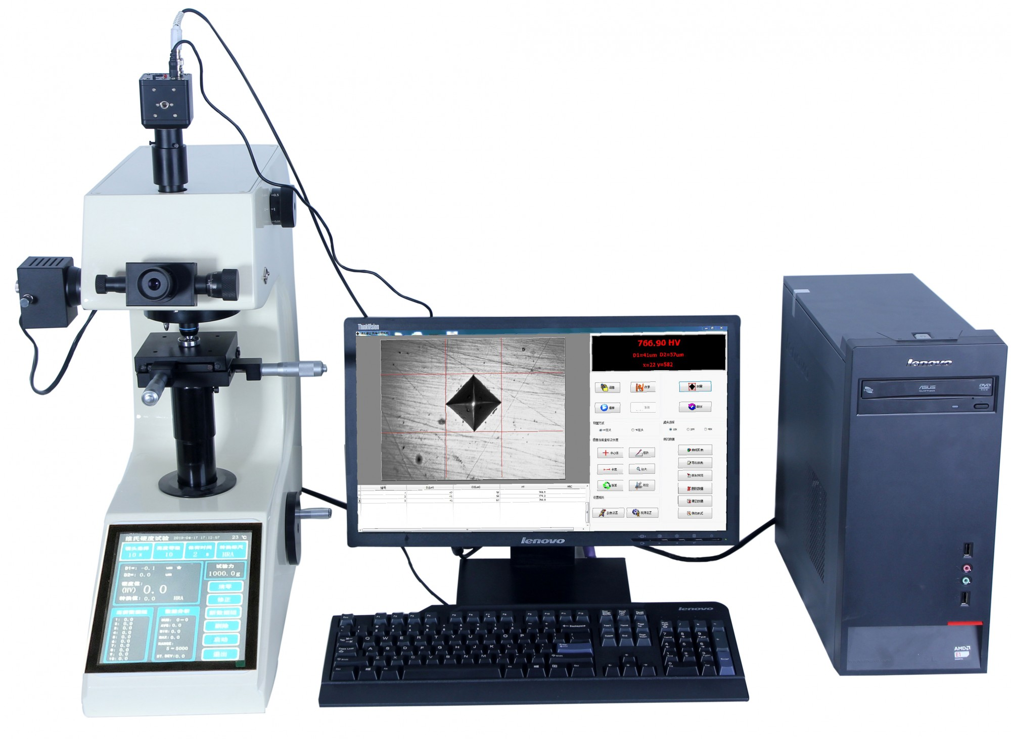 MHVS-1000ZT触摸屏显微维氏硬度计